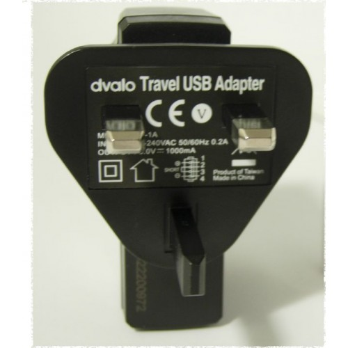 DVALO UNIVERSAL ADAPTER WITH USB (TU-1A) BLK