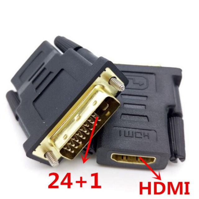 DVI 24+1 Male to HDMI Type A Female Gender Changer Adapter Converter
