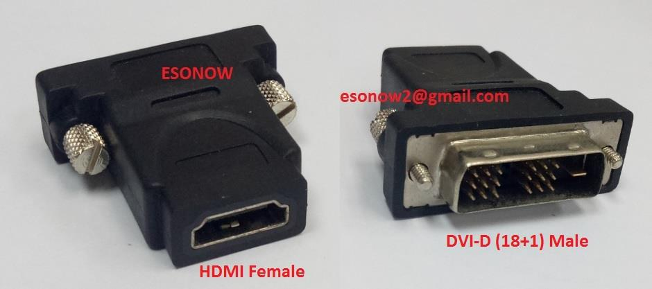 DVI-D (18+1) Male to HDMI Female Converter Adapter (Stock Clerance)