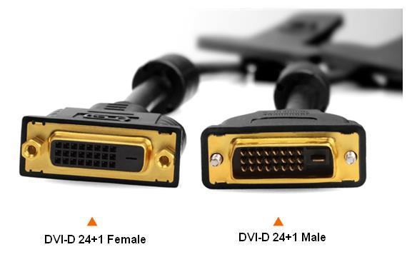 DVI-D 24+1 Male to Female PC Computer Monitor Extension Cable 5 Meters