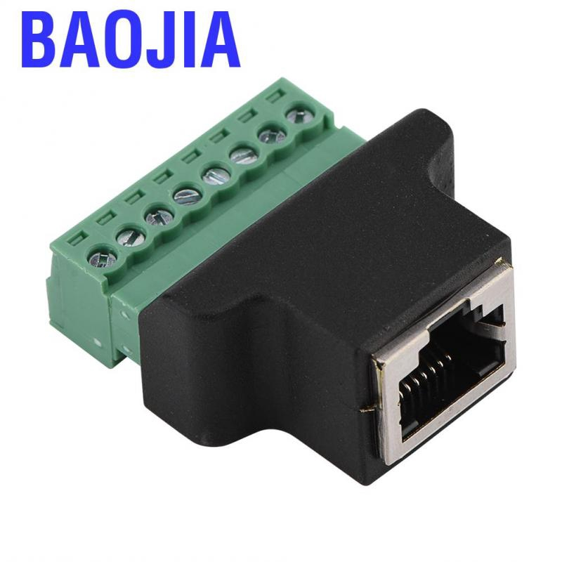 Dvr Ethernet Connector Rj45 Female Jack To 8 Pin Screw Terminal