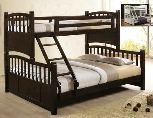 DW555 Charcoal Walnut Wooden Bunk Bed