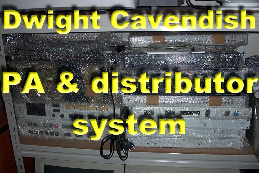 Dwight Cavendish -PA & distributor system (vs-628,vp-710,vp-738,vp-702