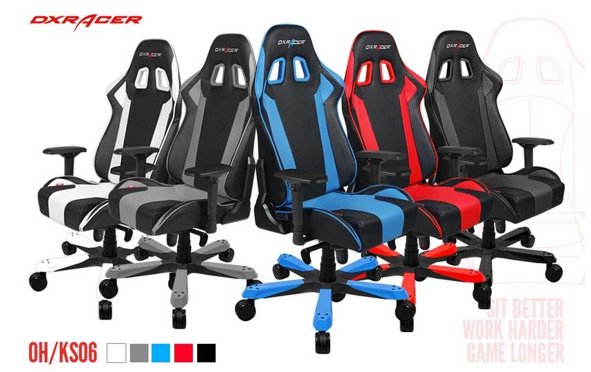 Dxracer King Ks06 Series Gaming Chair 3 Color Avlb