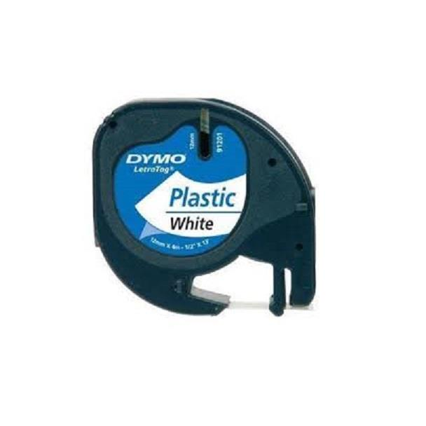 DYMO Black on White LetraTag Plastic Tapes Personal Label Maker