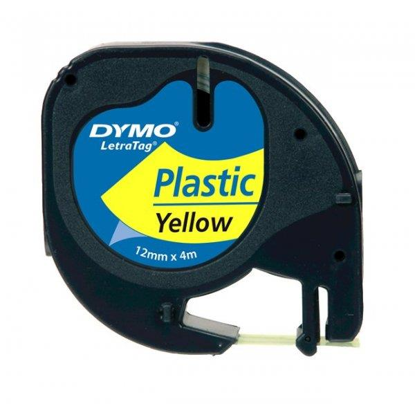 DYMO Black on Yellow LetraTag Plastic Tapes Personal Label Maker