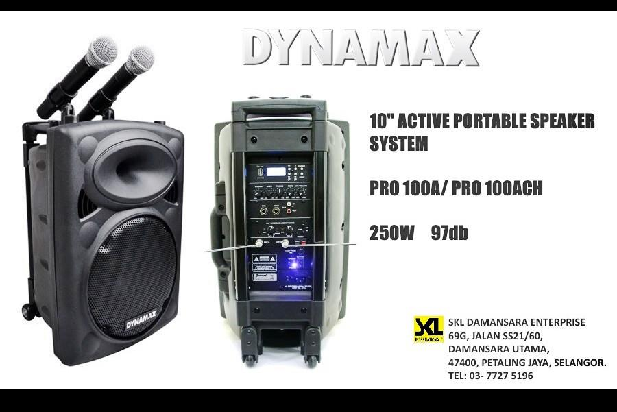 DYNAMAX PRO100 10 inch Active Portable Speaker System