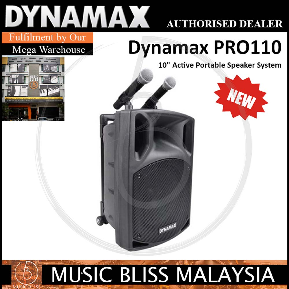 Dynamax PRO110 Portable Speaker System w/Bluetooth, Microphone and USB