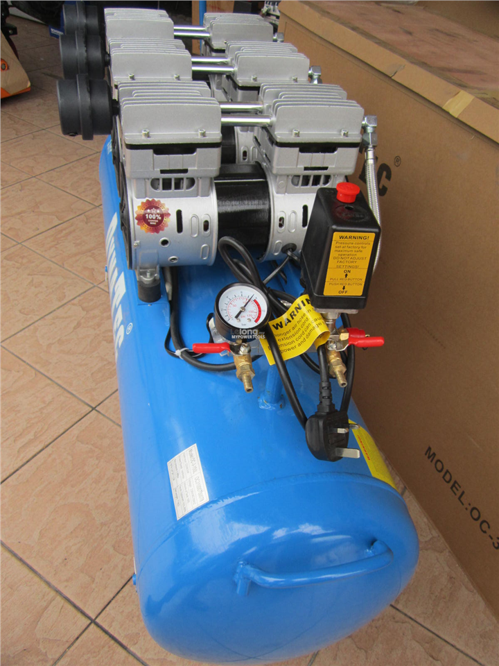 DynaTec 2.25kW (3.0HP) 100L Oil-Less & Low Noise Air Compressor