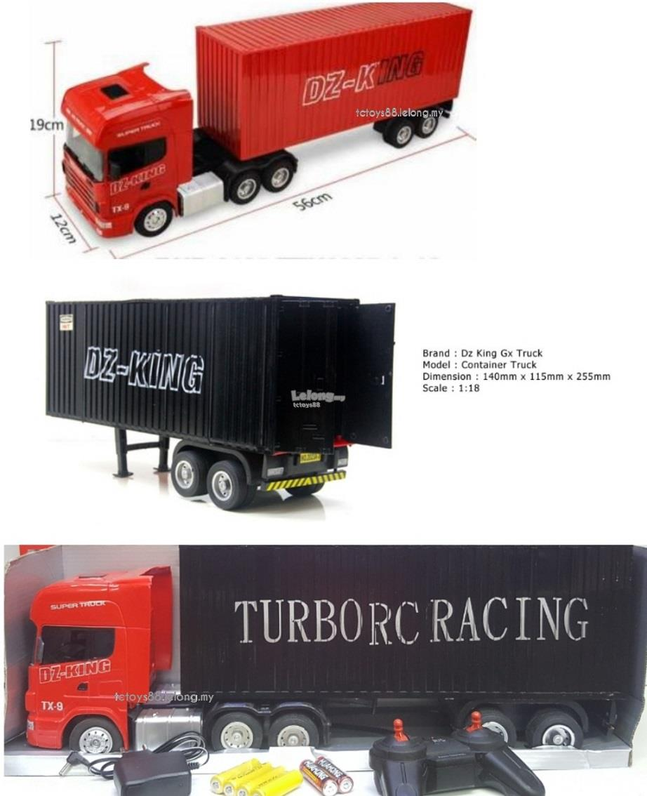DZ KING RC TRUCK 1/18 Remote Control Truck Container Scania BIG Scale