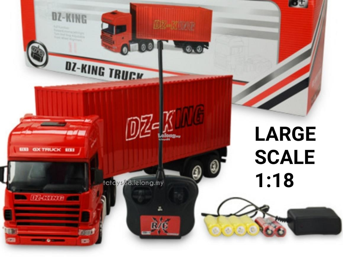 Elegant DZ KING RC TRUCK 1/18 Remote Control Truck Container Scania BIG Scale