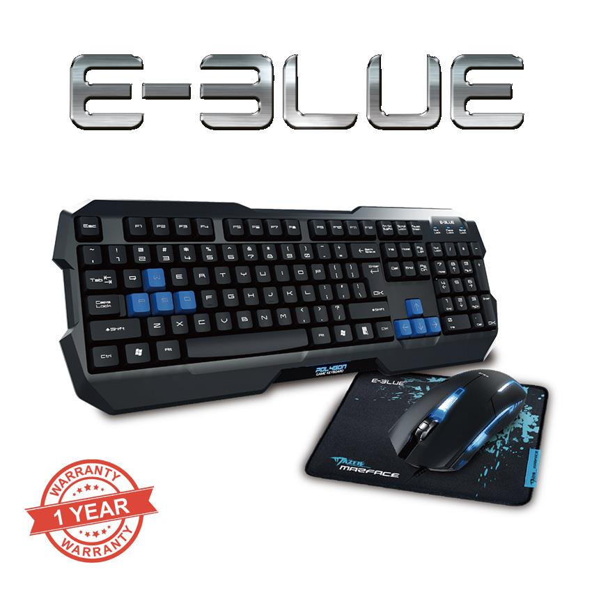 E-BLUE Cobra K820 Gaming Keyboard + Mouse Combo Illumation Effects