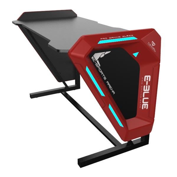 E-BLUE EGT002 Black with Glowing Light Gaming Desk Table (1.25m)