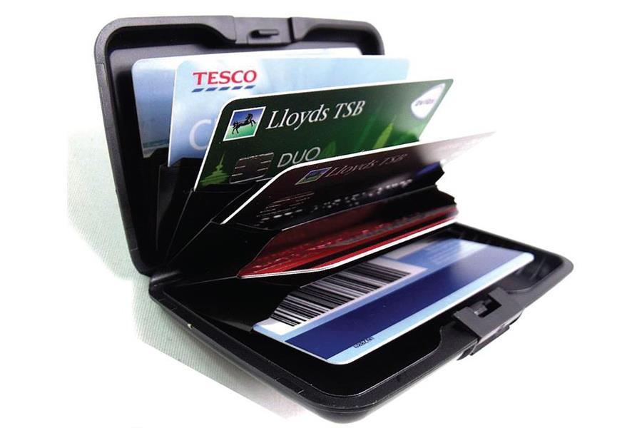 E CHARGE Wallet Power Bank Powerbank 10000mAh Card Holder RFID Block