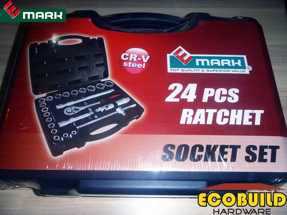 E-MARK 24 pcs Ratchet Socket Set (CR-V Steel)