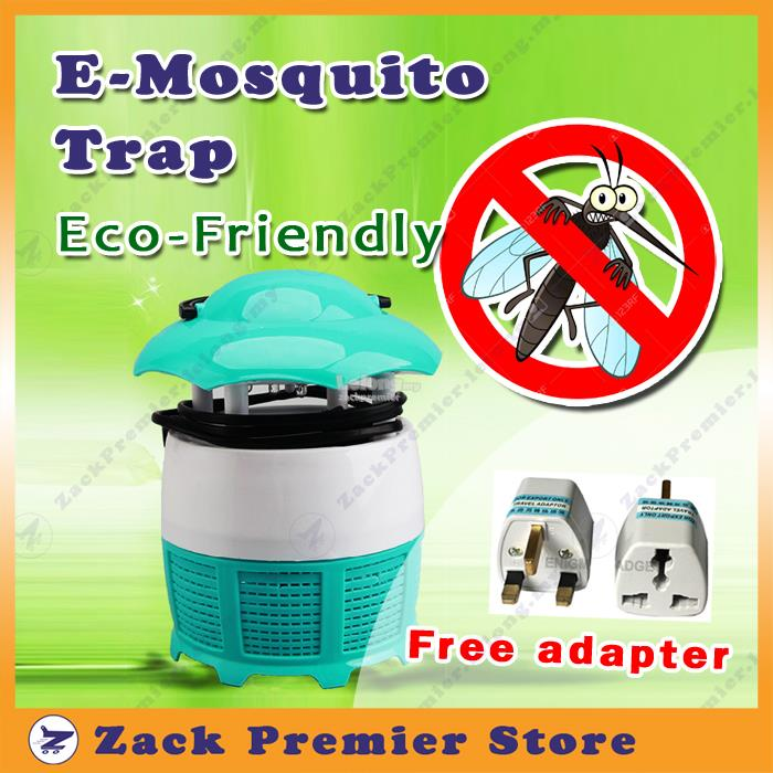 E-Mosquito Trap -Safe and Eco-Friendly. Free adapter