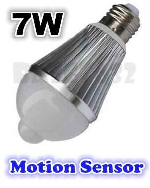 e27  7W Body Motion Sensor Led Light Bulb Cool White Warm White