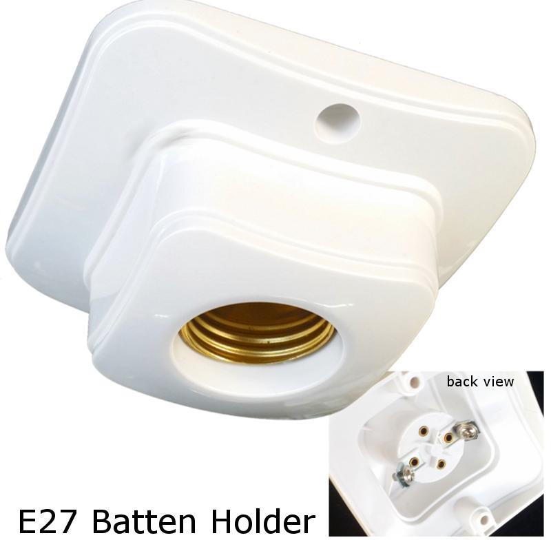 E27 batten lamp holder square base wall ceiling mount SINGLE