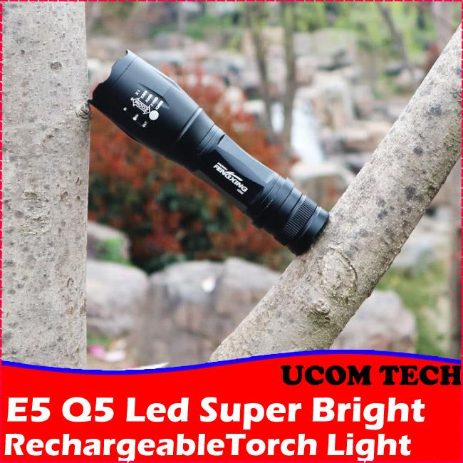 E5 Super Bright Q5 Led Torch Light Rechargeable Torchlight