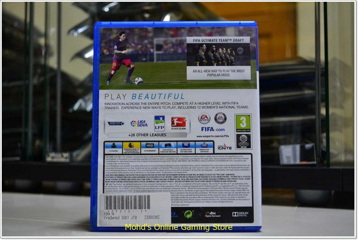 EA SPORT FIFA 16 PS4 GAME