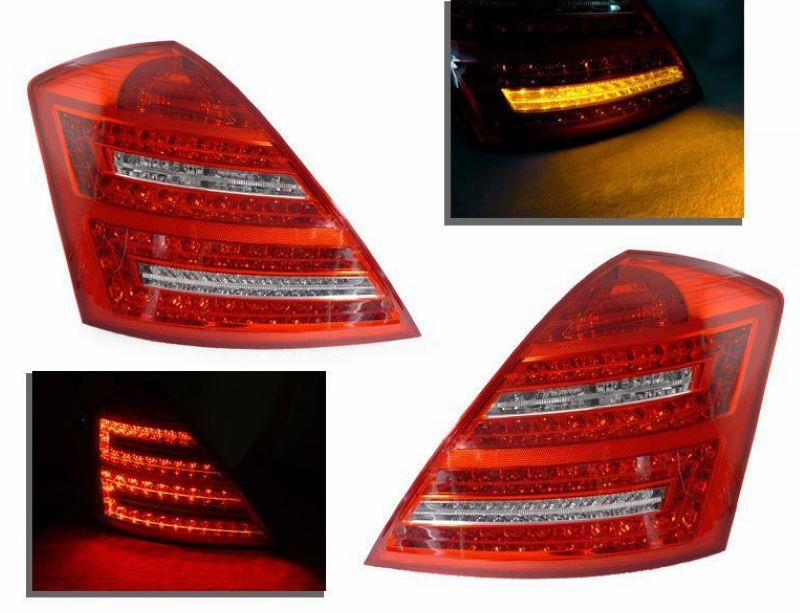 EAGLE EYES BENZ S-Class W221 RED/CLEAR LED Tail Lamp [TL-030-BENZ-1]