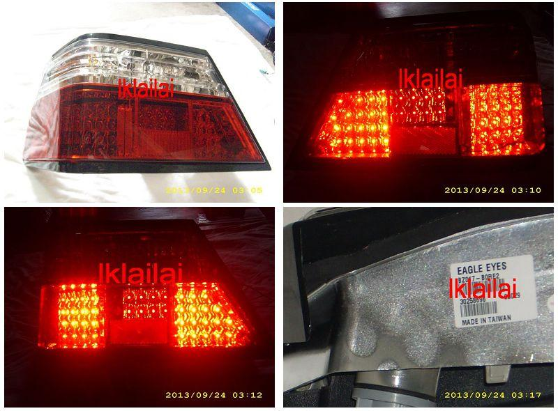 EAGLE EYES BENZ W124 '85-'93 RED/CLEAR LED Tail Lamp