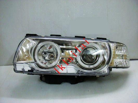 EAGLE EYES BMW E38 '98-01 CHROME CCFL Projector Head Lamp [HL-016-BMW-