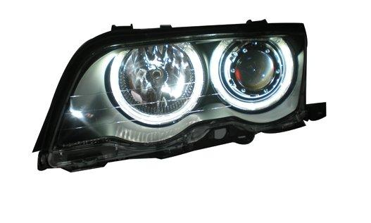 EAGLE EYES BMW E46 4D '98-01 CCFL Projector Head Lamp +Corner