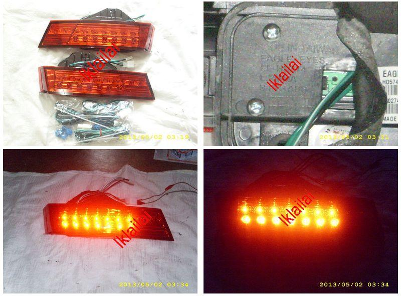 EAGLE EYES Honda Accord '08-'09 LED Back Lamp Bonnet Lamp  Red [TL-147