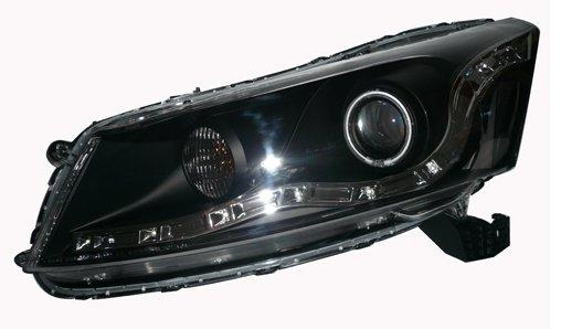 EAGLE EYES HONDA ACCORD 4D '08 BLACK CCFL Projector Head Lamp [HL-100-