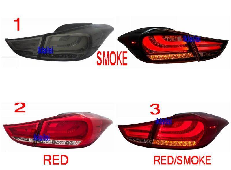 EAGLE EYES Hyundai Elantra U002711 12 LED Light Bar Tail Lamp. U2039 U203a