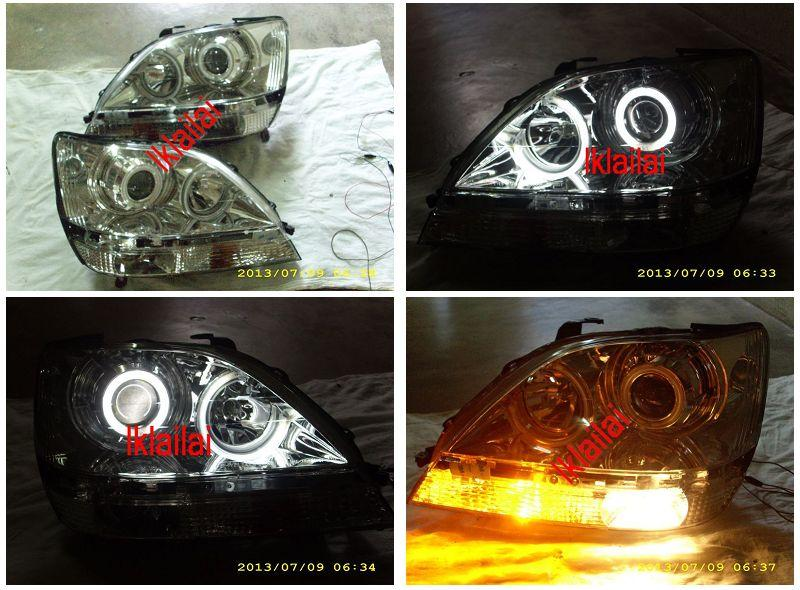 EAGLE EYES LEXUS RX300 '01-03 CHROME CCFL Projector Head Lamp HL-102