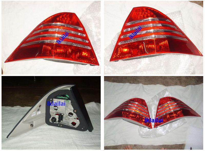 EAGLE EYES MERCEDES BENZ W220 '99-05 CRYSTAL RED/SMOKE LED Tail Lamp