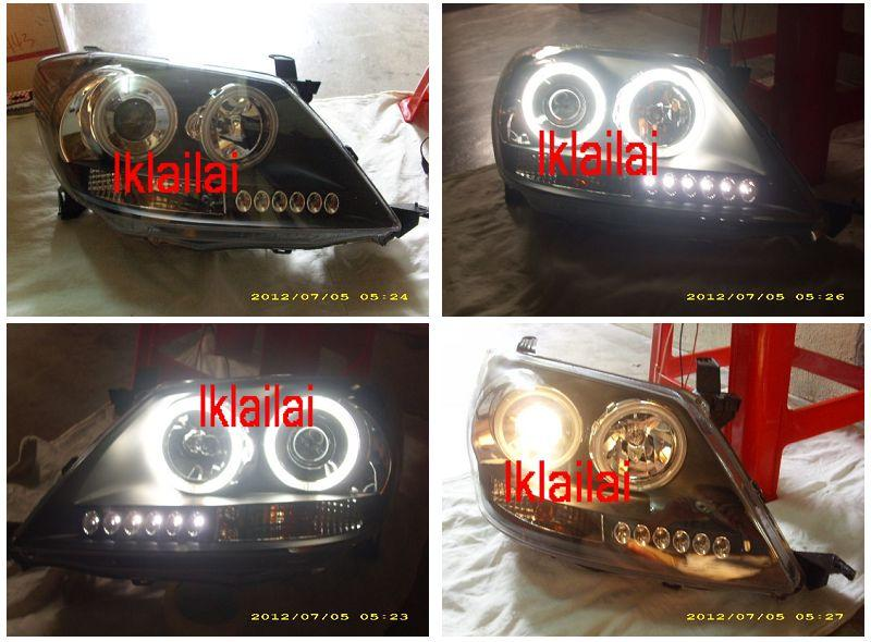 EAGLE EYES TOYOTA FORTUNER '06 CCFL Ring Projector Head Lamp HL-062-1