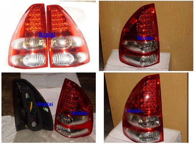 EAGLE EYES TOYOTA PRADO '03 RED/CLEAR FJ120 LED Tail Lamp [TL-048]