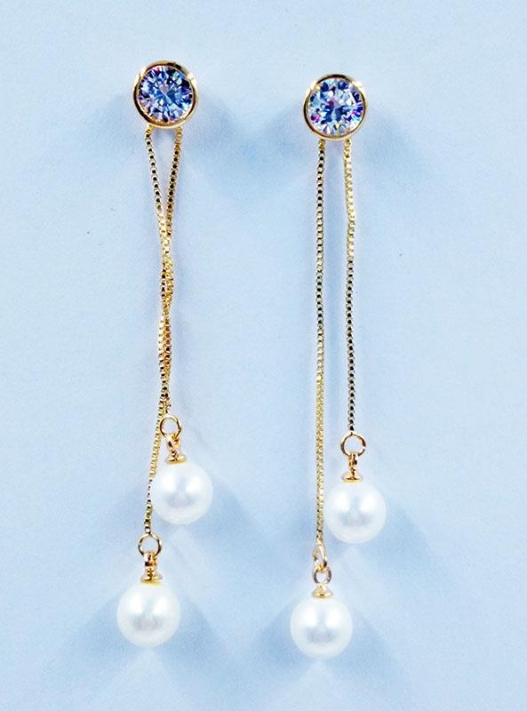 Earing Pearl Crystal Comb