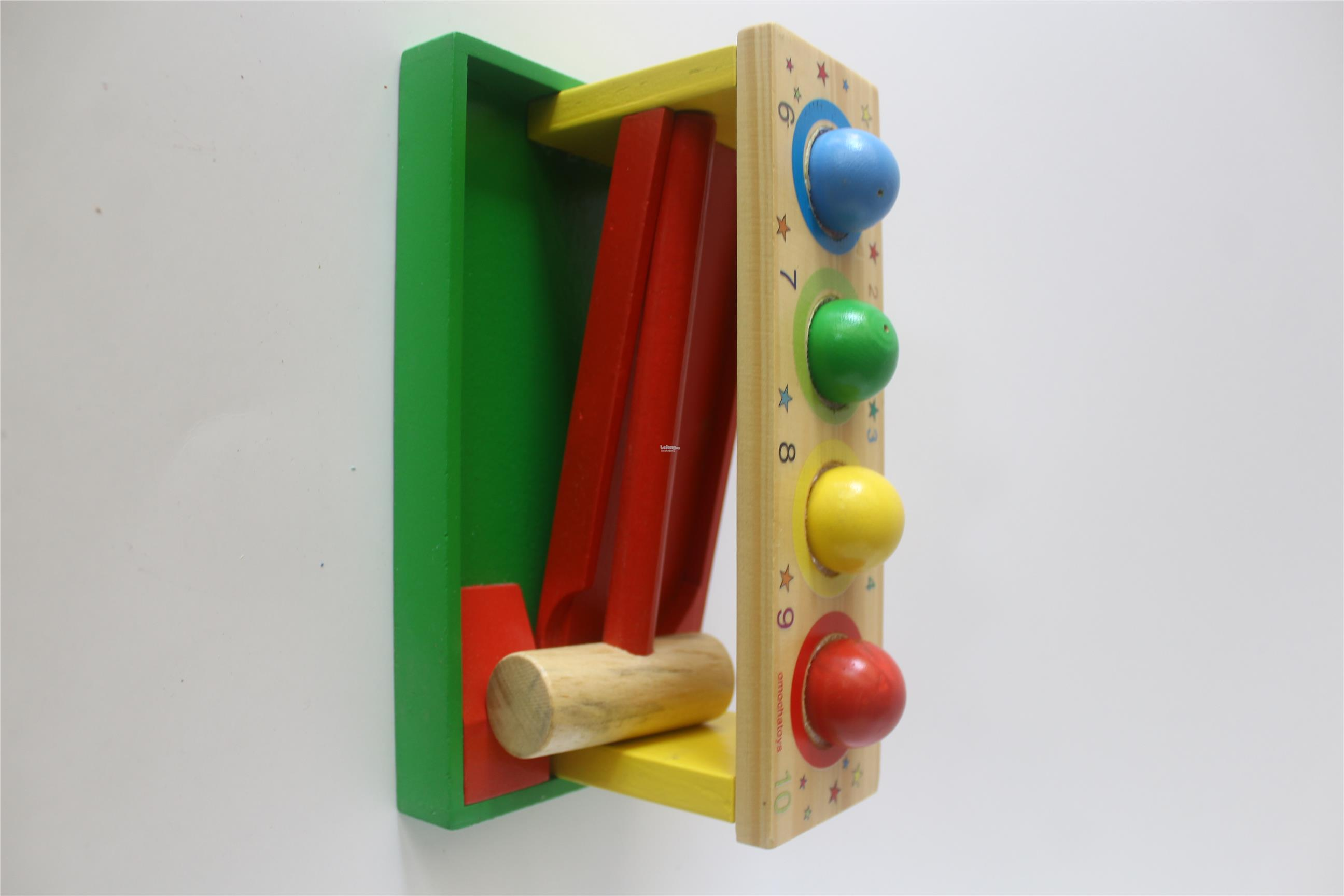 Early Educational Wooden Toys ( BALL HAMMER CATERPILLAR)