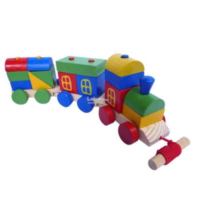 Early Educational Wooden Toys ( COLORFUL RAILWAYS)