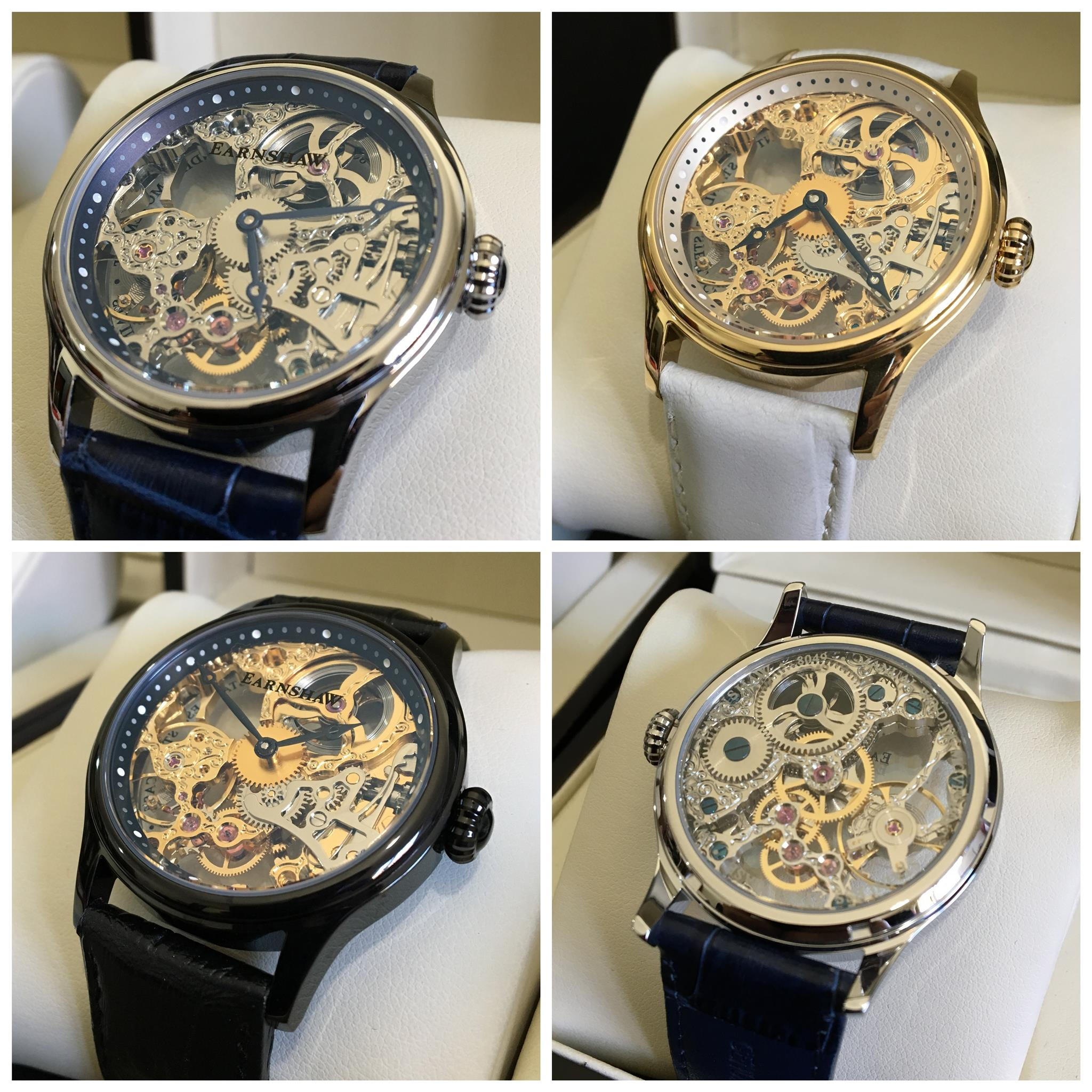 Earnshaw Bauer Mechanical Skeleton Watch
