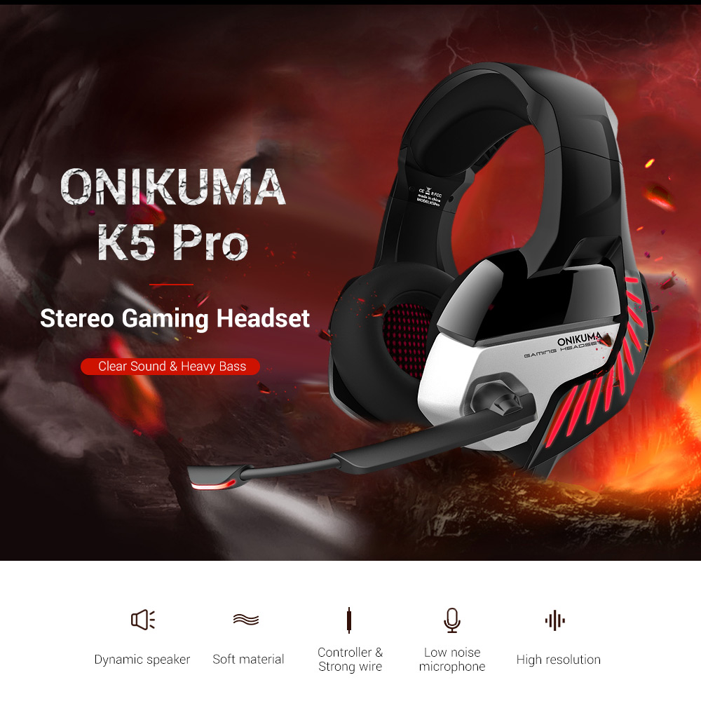 Earphones & Headphones? - ONIKUMA K5 Pro STEREO Gaming Headset Over-ea..