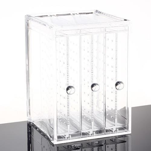 Earring Holder Acrylic Storage Box Jewellery Case 3 Panel Storage Box