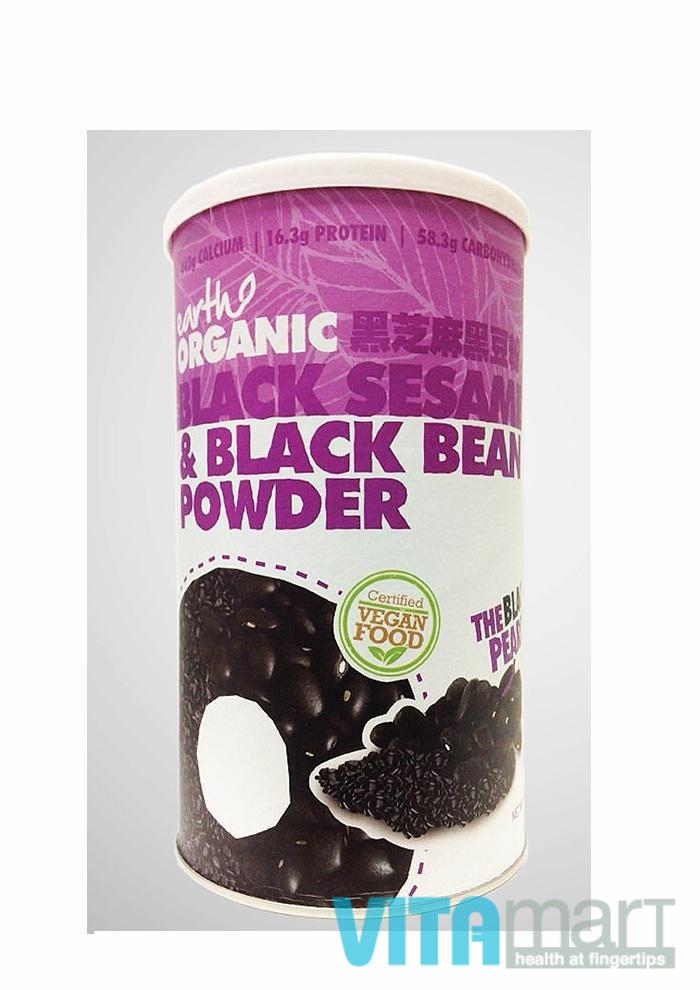 Earth Organic Black Sesame & Black Bean Powder; 500g