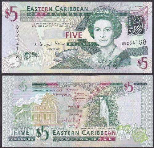 East Caribbean States 50 Dollars 2008 Unc P.50