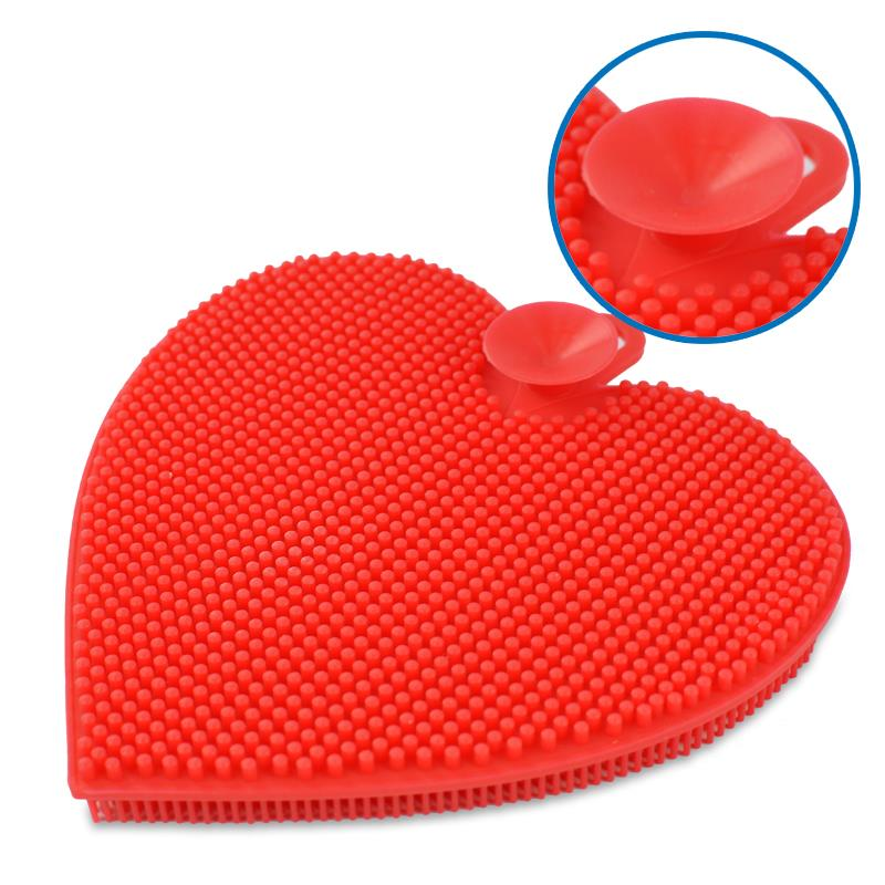 EASY&HOME ECOMI SILICON ECO SCRUBBER Multi-cleaning Master - Heart Sha