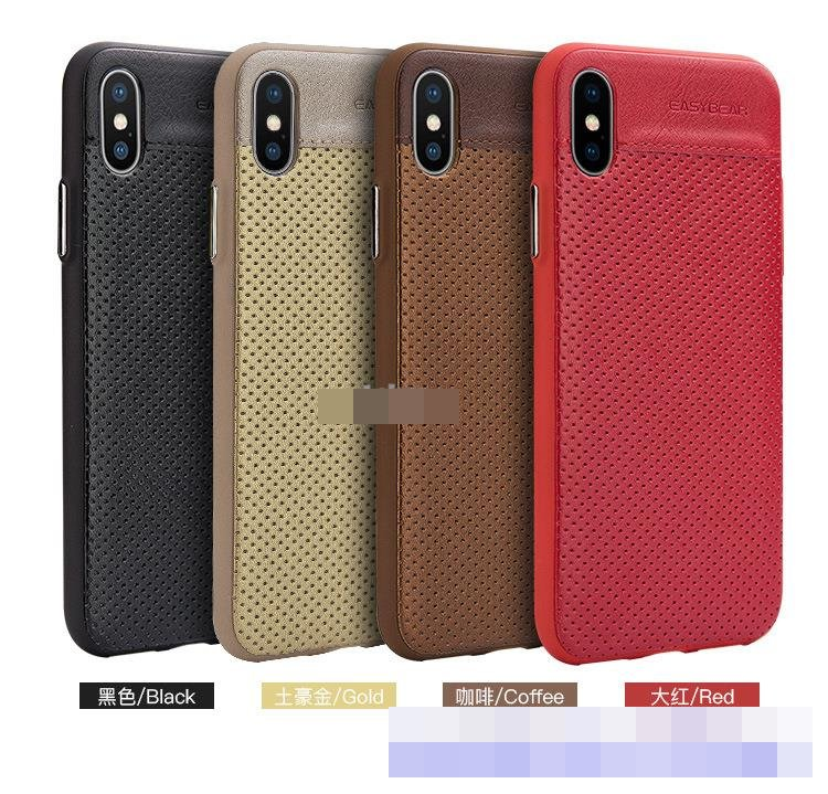 EASYBEAR Apple iPhone X iPhoneX Leather TPU Back Case Cover Casing