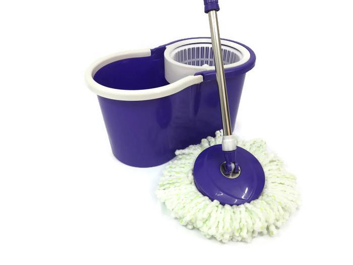 easylife magic spin mop with 2 mop heads