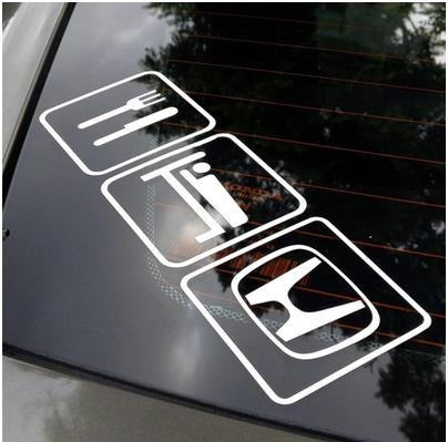 Eat Sleep HONDA FIT CRV ACCORD CIVIC End PM - Stickers for honda accord