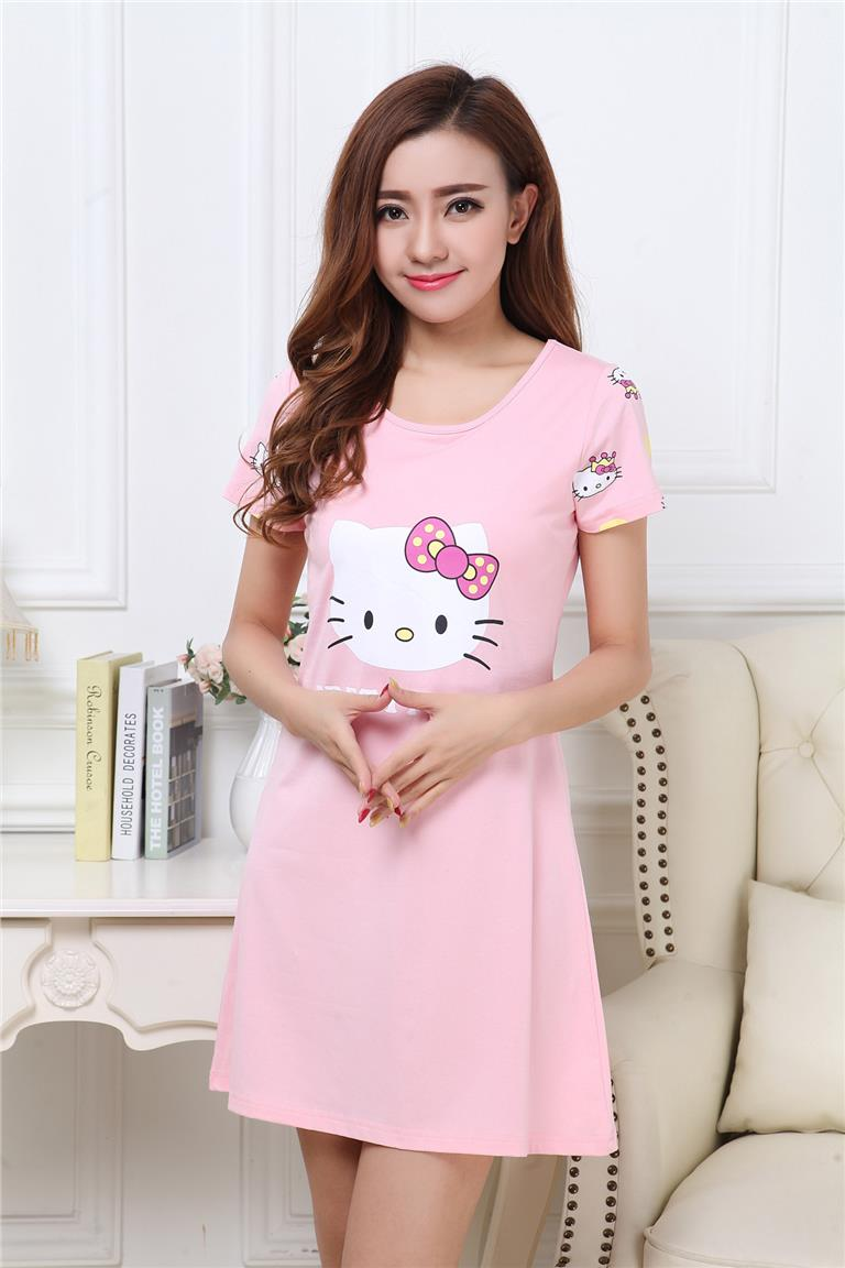 d5a0c96114 EAVIER Hello Kitty Nightdress Short Sleeve Pajamas Cups without Rims. ‹ ›