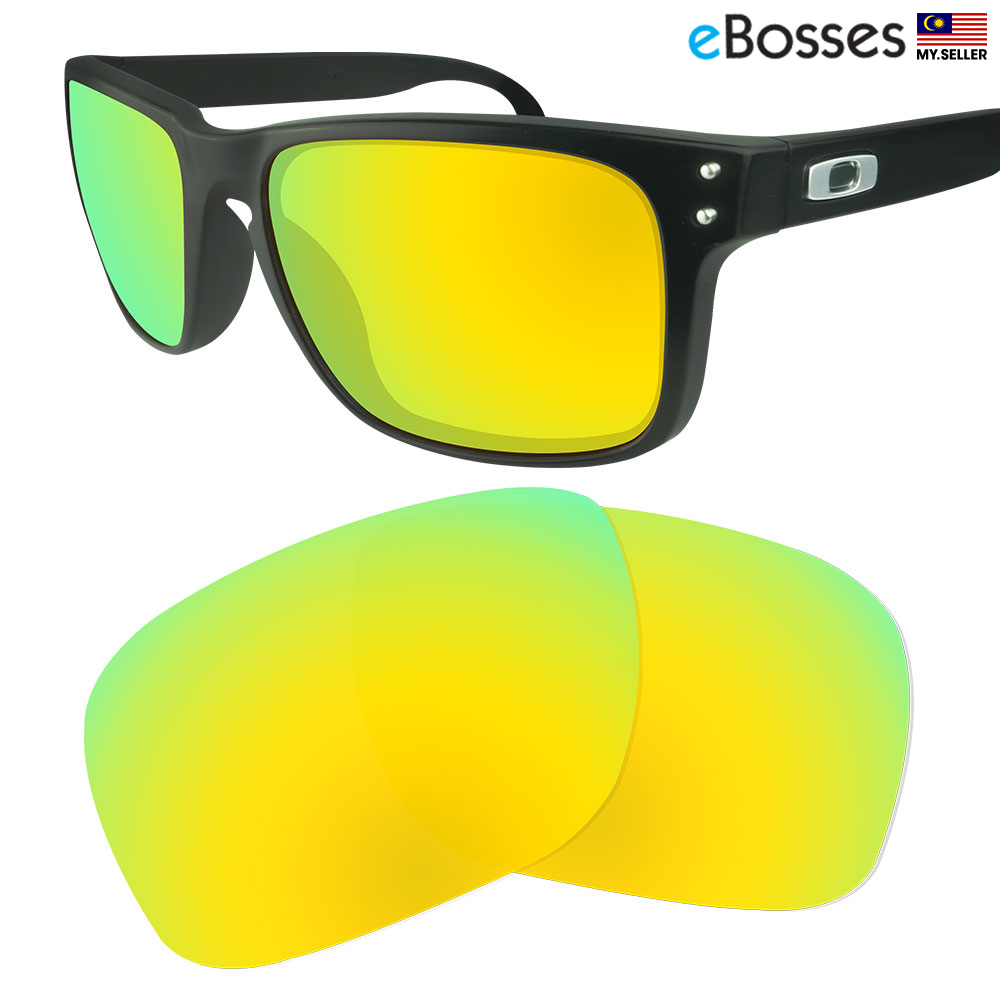 b8bbfd4e64 eBosses Polarized Replacement Lenses for Oakley Holbrook - Gold Green. ‹ ›