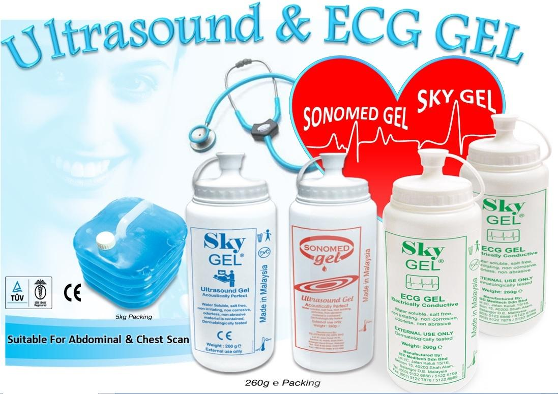 ECG Gel Sky Gel ISO 13485 Compliant 24 bottles per carton